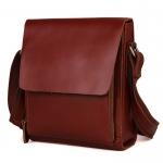 GT-7054 กระเป๋าสะพายข้างผู้ชาย หนังฟอกฝาด สีน้ำตาลแดง