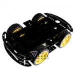 โครงรถ หุ่นยนต์ 4WD สีดำ smart car chassis