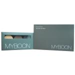 Myboonแป้งพัฟ แป้งเค้ก พัฟแต่งหน้า พร้อมชิมเมอร์ 1กล่อง+ Myboonชุดแต่งคิ้ว ที่เขียนคิ้ว เนื้อครีม พร้อมแปรงปัดEyebrow Powder 1กล่อง