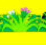 รั้วหญ้าดอกไม้ ยาว 64 ซ.ม.