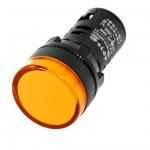 หลอดไฟสัญญาณ LED สีเหลือง ขนาด 22 มม Light Indicator Signal Lamp AC/DC 12V