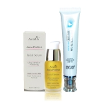 AuraRIS เซรั่ม บำรุงผิวหน้า ครีมหน้าขาว AuraRIS Facial Serum 15 ml. + BOB Precious Gift BB & Concealer Cream SPF 50++ ครีมรองพื้น + บีบีครีม ในหลอดเดียว ขาวเรียบเนียนใส เป็นธรรมชาติ ( 1 หลอด)