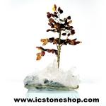 ต้นไม้หินมงคล อำพัน-ควอตซ์ ตั้งโต๊ะ ขนาดย่อม เสริมฮวงจุ้ย สำเนา