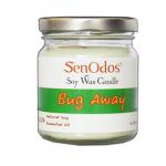 SenOdos เทียนหอม อโรม่า Bug Away Soy Candles เทียนหอม อโรม่า เทียนหอม ไล่ยุง ไล่แมลง ไล่หนู 190 g.