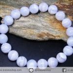 สร้อยหิน บลู เลซ อาเกต (Blue Lace Agate) 10mm.
