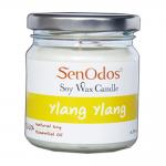 SenOdos เทียนหอม อโรม่า Ylang Ylang Scented Soy Candle Aroma 190 g. (กลิ่นกระดังงาแท้)