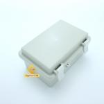 กล่องอเนกประสงค์ กันน้ำ สีเทา พร้อมฝาปิด 100*150*72 mm