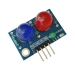 LED Module ไฟแสดงสถานะ 2 ดวง 10mm สีแดง สีน้ำเงิน