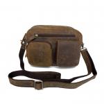 GT-6067 กระเป๋าหนังแท้ คาดเข็มขัด สีน้ำตาล