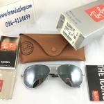 แว่นกันแดด Rayban แท้ทรง Aviator rb3025 w3277 ปรอทเงิน size 58mm