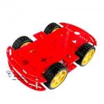โครงรถ หุ่นยนต์ 4WD สีแดง smart car chassis