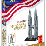 3D Puzzle Cubic Fun Petronas Tower