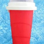 แก้วทำสเลอปี้ สีแดง