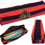 กระเป๋าดินสอฮอกวอตส์ สีแดงสลับดำ แบบผ้า