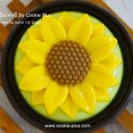 Sunflower Jelly ⓒ วุ้นดอกทานตะวัน กลิ่นใบเตย วิธีทำวุ้นกะทิแฟนซี