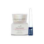 AuraRIS ครีมบำรุงผิวหน้า ครีมหน้าขาว ขาวสวยใส ลดสิว ฝ้า กระ จุดด่างดำ Whitening Face Cream 10 ml + BOB Precious Gift Eyeliner อาบไลน์เนอร์ กรีดตาสวยเเฉียบ ตาสวย ทันสมัย ( 1 ชิ้น)