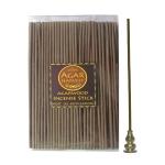 ชุดธูปแท่งญี่ปุ่น ไม้หอม ไม้กฤษณา แท้ หลังกลั่นน้ำมัน Agarwood Incense Stick (Post Oil Distillation) 200 gm + ที่ปักธูป ที่จุดธูป ที่วางธูป 2 In 1 ทำจากทองเหลืองแท้ ทนทาน ไม่ลอก ไม่ดำ ไม่เป็นสนิม