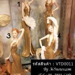 ตุ๊กตาพอร์ซเลนตกแต่งบ้าน รูปหญิงสาวสวยในชุดราตรีสีทอง