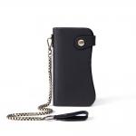 GT-8810A กระเป๋าสตางค์หนังแท้ ใบยาว ดีไซน์โค้ง สีดำ