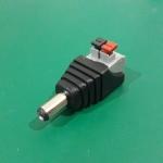 DC male Adapter Jack plug สำหรับ Arduino 2.1 x 5.5 mm แบบหนีบ