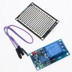 รีเลย์ตรวจจับน้ำฝน 12v Raindrops Controller Module Rain Sensor Relay Module For Arduino
