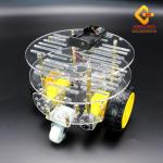 โครงรถ หุ่นยนต์ Smart Car Chassis แบบ 3 ชั้น
