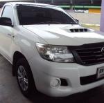 ฟรีดาวน์ Toyota vigo J 2.5 ปี 2012สีขาว สภาพเดิมมาก มือแรก ใช้งานน้อย ไม่เคยเฉี่ยวชน ผ่อนเดือนละ 5,618x72 งวด