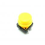 สวิตช์ ปุ่มกดติดปล่อยดับ B3F ขนาด 12 * 12 * 7.3 mm หัวสีเหลือง