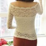 [[หมด] A75 เสื้อผ้าลูกไม้เนื้อดีสีขาวพร้อมซับใน ในตัว ออกแบบและตัดเย็บเรียบร้อย