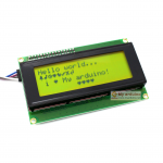 2004 LCD (Yellow Screen) 20x4 LCD with backlight of the LCD screen พร้อม I2C Interface ขนาด 20 ตัวอักษร 4 แถว