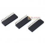 Female Pin Header 90 degree Dip Straight Single Row 2.54mm 1*10Pin