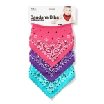 BANDANA BIBS (PINK/PURPLE/MINT)