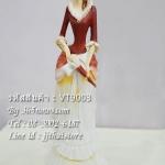 ตุ๊กตาเรซิ่นตั้งโชว์ตกแต่งบ้าน รูปหญิงสาวถือร่ม