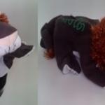 ตุ๊กตาหุ่นมือผ้าสอนคำศัพท์-สิงโต