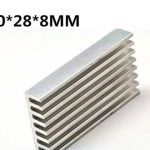 แผ่นระบายความร้อนพร้อมแผ่นกาว Mini Heatsink ขนาด 50*28*8mm