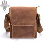 GT-7055 กระเป๋าสะพายข้างผู้ชาย หนังนูบัค สีน้ำตาล