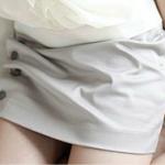 กระโปรง สีเทาSize XXL แนวกระดุมผ้าร่น ดีไซน์เก๋