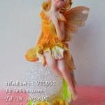 ของแต่งบ้านน่ารัก ตุ๊กตาเรซิ่นภูติสาวตัวน้อย สีเหลือง