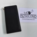NS-20 กระเป๋าสตางค์หนังแท้ ใบยาว สีดำ สภาพดีมาก มีตัวเกี่ยวสาย
