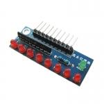 บอร์ดทดลอง LED 8 ดวง สีแดง