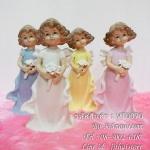 ตุ๊กตาพอร์ซเลน หญิงสาวถือดอกไม้ 4 คน