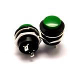 สวิตช์กดติด/ปล่อยดับ R13-507 16MM สีเขียว
