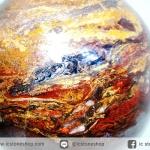 ปีเตอร์ไซต์สีน้ำเงิน (Blue Pietersite) ทรงบอล 8 cm