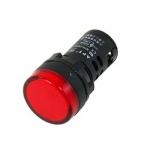 หลอดไฟสัญญาณ LED สีแดง ขนาด 22 มม Light Indicator Signal Lamp AC/DC 12V