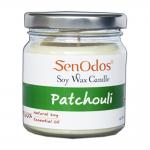 SenOdos เทียนหอม อโรม่า Patchouli Scented Soy Candle Aroma 190g. (กลิ่นแพทชูลี่แท้)