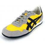 รองเท้าผ้าใบผู้ชาย Onitsuka Tiger Men's Serrano Shoes D109L สีเหลืองคาดดำ