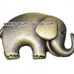กระดุมโลหะ กระดุมช้าง (สีทองเหลืองโบราณ)