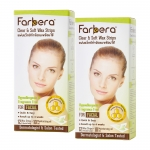 แพ็คคู่ - Farbera Clear & Soft Wax Strips (For facial) 12 แผ่น
