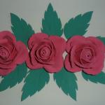 กุหลาบใหญ่ 3 ดอก+ใบ