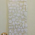 ตัวกิมมิคกำมะหยี่รีดติด ตัดสำเร็จรูป สีขาว